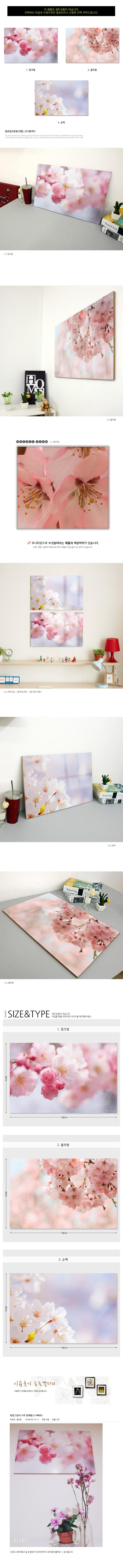 tm030-아크릴액자_팝콘같은벚꽃(대형) - 꾸밈, 33,600원, 액자, 벽걸이액자